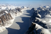 An ice-covered fjord on Baffin Island, the fifth largest island in the world, in the territory of Nunavut in northern Canada [File: Michael Studinger/NASA/Handout via EPA]