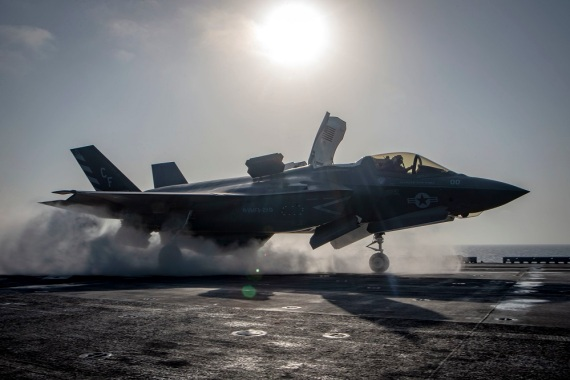 The Pentagon said the US military conducted the air raids against Iran-backed militias at US President Biden's direction [File: US Navy/Matthew Freeman/EPA]