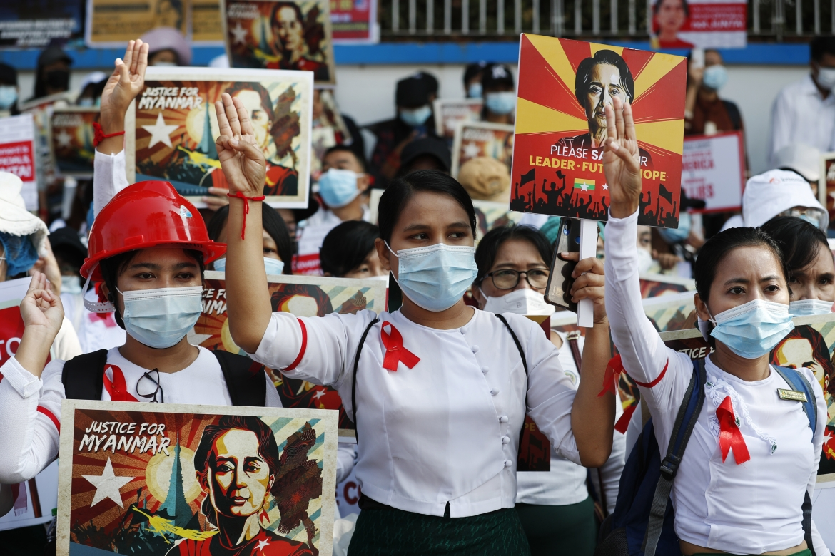 In Pictures: Myanmar's coup opponents gather for major protests | Gallery  News | Al Jazeera