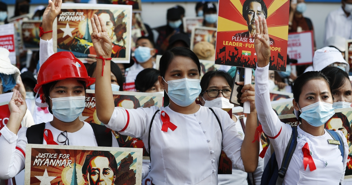 www.aljazeera.com: In Pictures: Myanmar's coup opponents gather for major protests