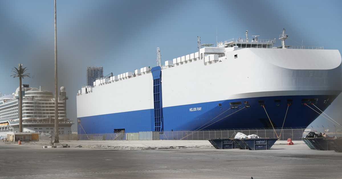 Israeli-owned vessel docked in Dubai after mysterious explosion