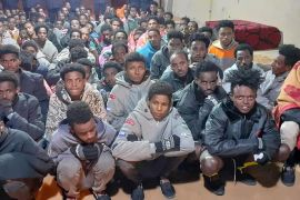 As many as 156 migrants were rescued by Libyan authorities from human traffickers in the southeastern city of Kufra [Kufra Security Directorate/Facebook]