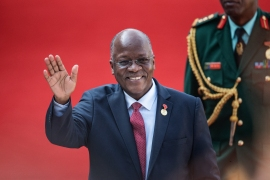John Magufuli was first elected Tanzania's president in 2015 and won re-election last year [File: Michele Spatari/AFP]