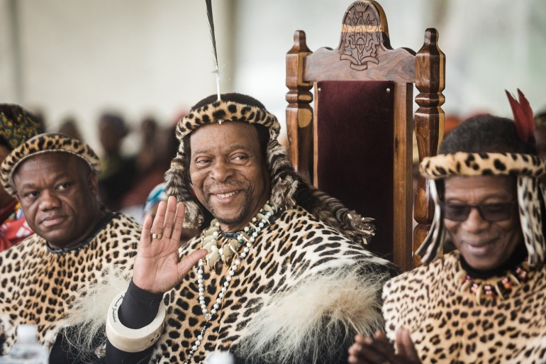 The king wielded great influence among millions of Zulus through his largely ceremonial and spiritual role despite having no official power in modern South Africa [File: Rajesh Jantilal/AFP]