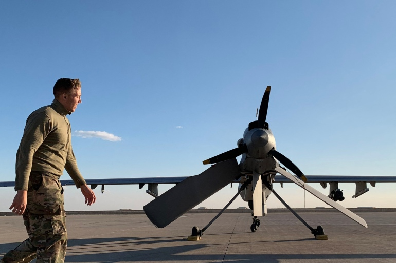 Two drones shot down above Iraq base housing us troops