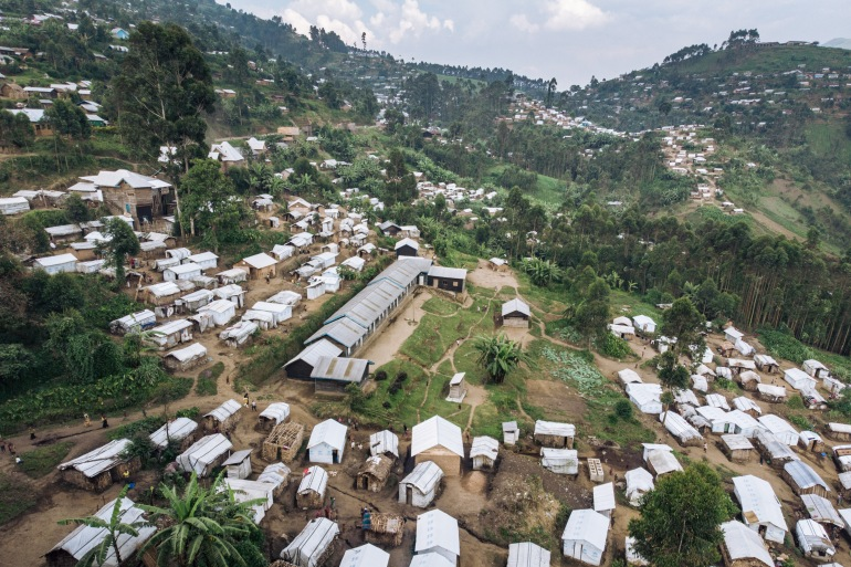 Even before the recent mass displacement, some 100,000 internally displaced people were already in need of shelter and protection in Beni, according to UNHCR figures [File: Alexis Huguet/AFP]