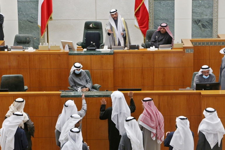 The worsening rift between Kuwait's emir-appointed government and elected The infighting diminished public confidence, caused instability and hastened the country's debt crisis [File: Yasser al-Zayyat/AFP]