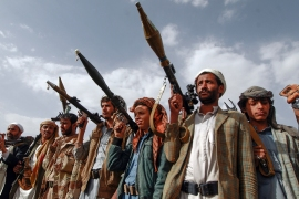 The Houthis have recently intensified operations against Saudi Arabia as they attempt to seize the Yemeni government's last northern stronghold of Marib [File: Mohammed Huwais/AFP]