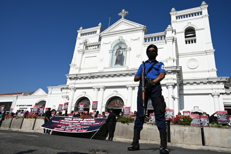 The country's Roman Catholics had threatened to take to the streets over what they say is the government's failure to act against those responsible for the attacks [File: Lakruwan Wanniarachchi/AFP]