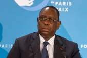 President Macky Sall has not yet responded to the violent clashes in Senegal [File: Ludovic Marin/AFP]