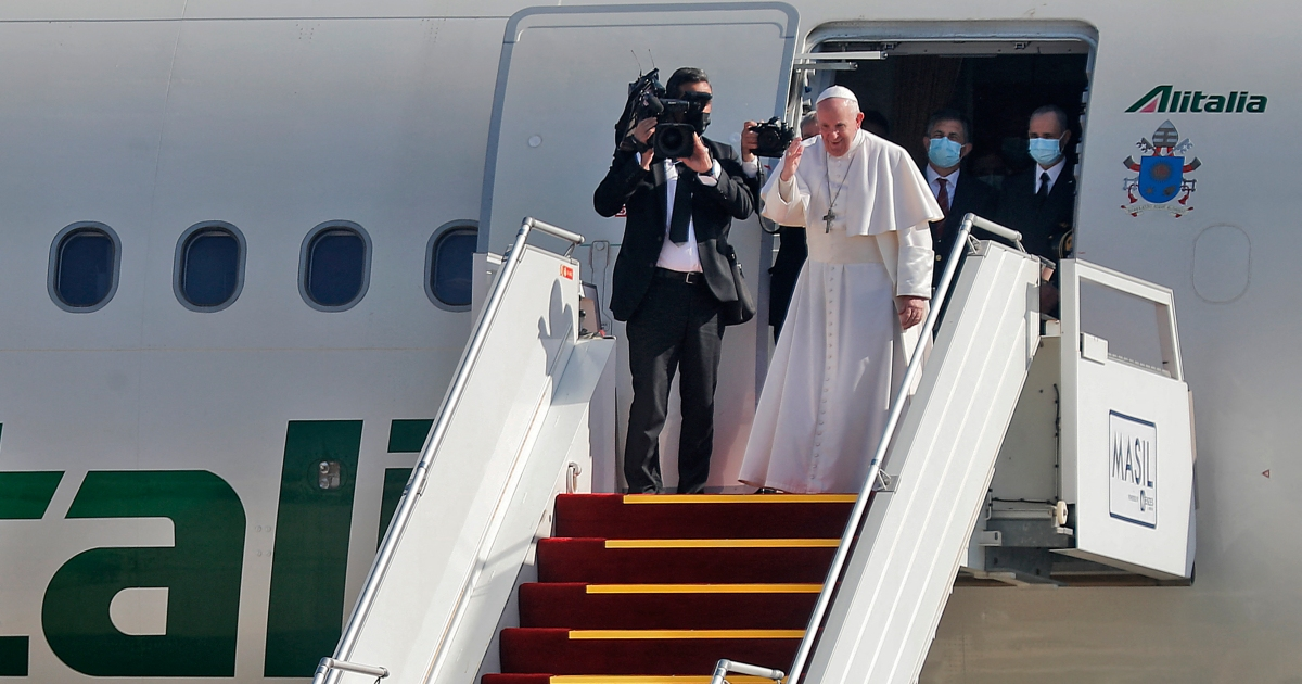 Pope ends historic Iraq visit with messages of coexistence