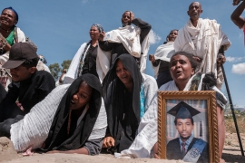 The rights commission spoke to dozens of witnesses who said Eritrean troops shot unarmed civilians and fired on those who tried to collect their bodies[ Eduardo Soteras/AFP]