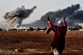 All the charges relate to the 'Kobane protests' that took place in October 2014 as ISIL closed in on the Syrian town of Kobane right across the Turkish border [File: AFP]