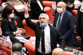 Earlier this week, the parliament stripped Gergerlioglu, a human rights activist, of his MP status and related protections over an earlier conviction for spreading 'terrorist propaganda' by sharing a news story link on Twitter [Adem Altan/AFP]