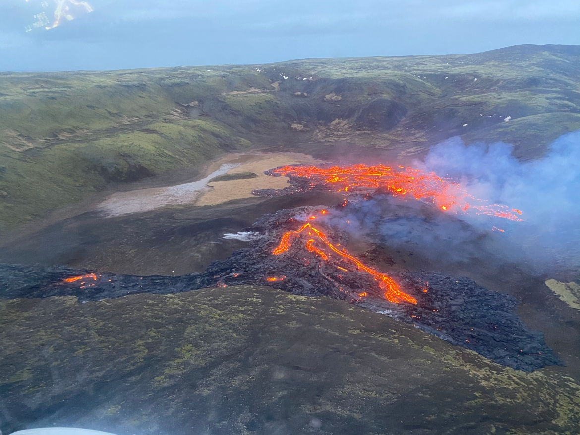 Volcanologists were still taken by surprise because the seismic activity had calmed down before the eruption. [Handout/ Icelandic Coast Guard via AFP]