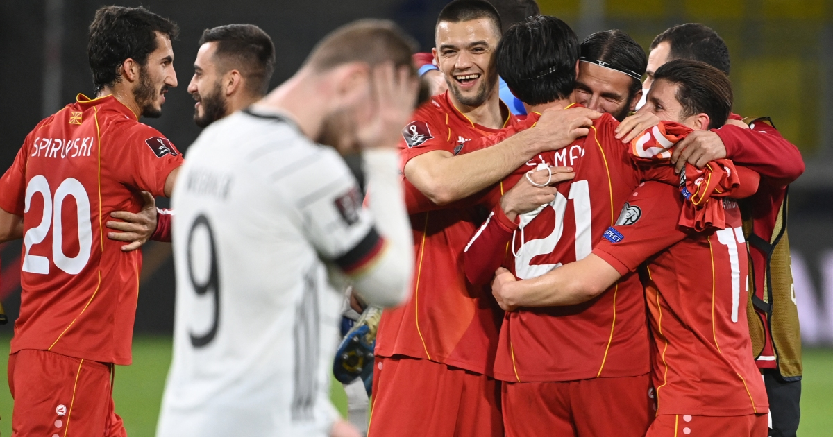 North Macedonia shock Germany in World Cup qualifier