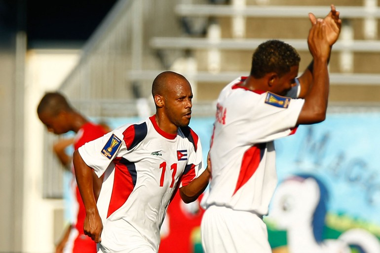 Belize's team is currently in Haiti for a World Cup 2022 qualifier on March 25 [File: Jared Wickerham/Getty]