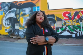 'Before they said activist revolutionaries don't make good politicians. We're turning that [notion] on its head,' said 44-year-old Shameka Parrish-Wright, who plans to run for Louisville mayor in 2022 [Chris Kenning/Al Jazeera]