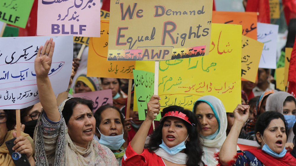 Women rally across the world despite coronavirus restrictions