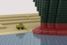 The Legos rendition of the Suez Canal situation [Via Twitter]