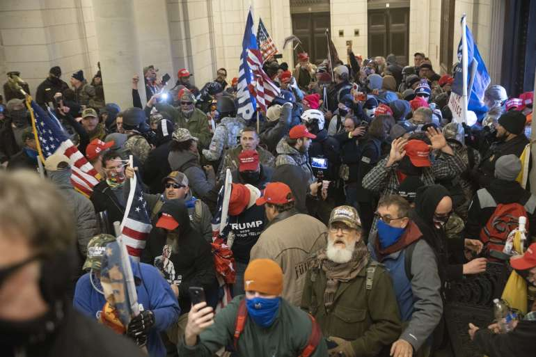 Protesters supporting Donald Trump stormed the US Capitol in Washington, DC, on January 6, 2021 [File: Win McNamee/Getty Images/AFP]