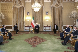 The agreement was signed by Iran's Foreign Minister Mohammad Javad Zarif and China's Foreign Minister Wang Yi [Iranian Presidential website/Handout]