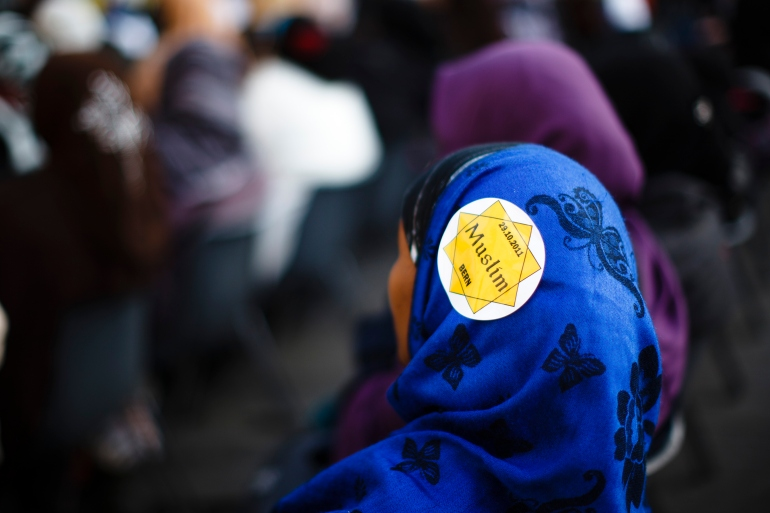 The legislation, referred to locally as the burqa ban, does not specifically mention the facial coverings worn by Muslim women, but is largely seen to target them [File: Michael Buholzer/Reuters]