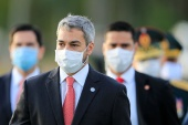 Paraguayan President Mario Abdo Benitez's government is facing mounting anger over its handling of the COVID-19 pandemic [File:Reuters]