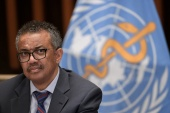 World Health Organization Director-General Tedros Adhanom Ghebreyesus said it is too early for countries to rely solely on vaccines and abandon other measures [File: Fabrice Coffrini/Pool via Reuters]