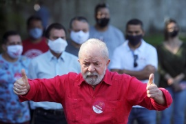 Brazil's former President Luiz Inacio Lula da Silva spent 18 months in jail after a corruption conviction that has been annulled [File: Amanda Perobelli/Reuters]