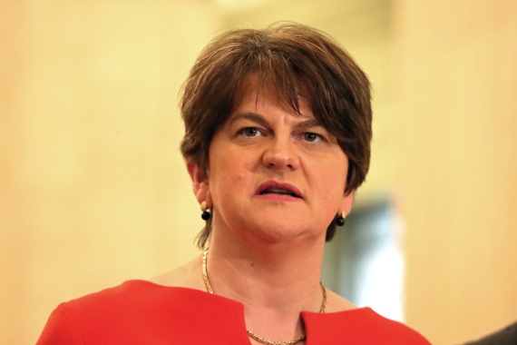 Arlene Foster has called for the Brexit deal's controversial Northern Ireland Protocol to be replaced [Liam McBurney/Pool via Reuters]