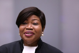 ICC Prosecutor Fatou Bensouda was sanctioned by former US President Donald Trump [File: Eva Plevier/Reuters]