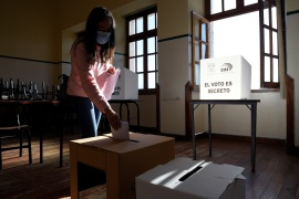 Women account for 51 percent of Ecuador's eligible voters, who will cast their ballots in a presidential run-off on April 11 [File: Santiago Arcos/Reuters]