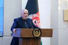 Afghan President Ashraf Ghani has refused to step aside for a transitional government [File: Afghan Presidential Palace/Handout via Reuters]