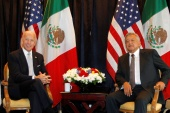 Mexican President Andres Manuel Lopez Obrador and his US counterpart Joe Biden are expected to talk about COVID, immigration and the economy [File: Tomas Bravo/Reuters]