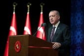 Erdogan outlined measures to improve the judicial system [Presidential Press Office/Handout via Reuters]