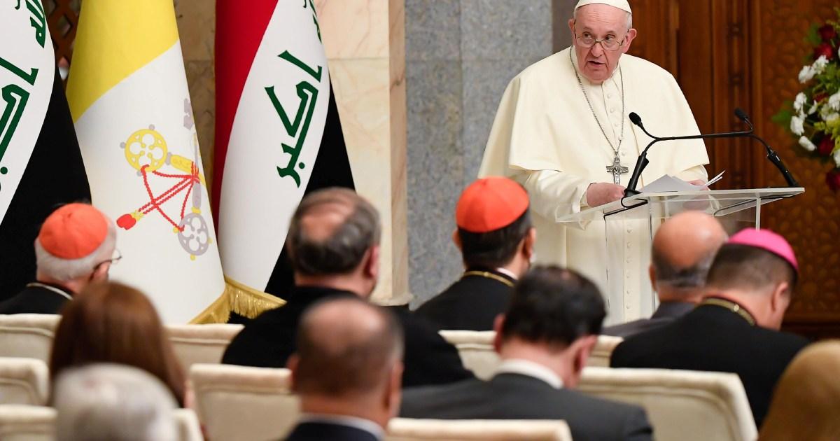 Paus Fransiskus menuntut penghentian kekerasan dalam pidato Irak pertama thumbnail