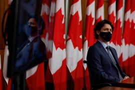 Canada's Prime Minister Justin Trudeau said the approval of the fourth vaccine brings the country 'one step closer to defeating this virus' [File: Blair Gable/Reuters]