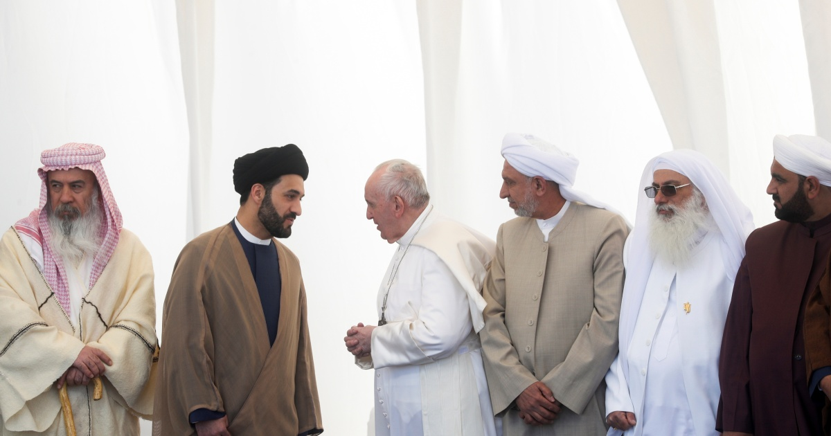 Pope Francis urges Iraq's Muslims, Christians to unite for peace | Religion  News | Al Jazeera