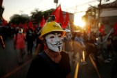 Protesters also called for the abolition of Thailand's lese majeste law [Jorge Silva/Reuters]
