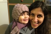 Nazanin Zaghari-Ratcliffe and her daughter Gabriella pose for a photo in London, UK, on February 7, 2016 [File: Reuters]