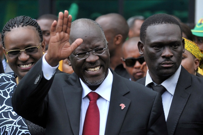 Magufuli was first elected in 2015 on promises to tackle corruption and boost infrastructure development [File: Sadi Said/Reuters]