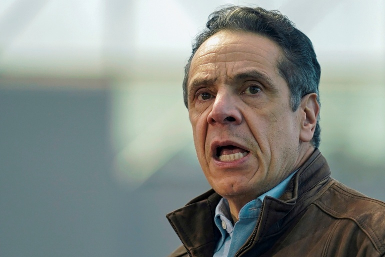New York Governor Andrew Cuomo is facing growing calls to resign from members of his own party [File: Seth Wenig/Pool via Reuters]