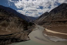 A highway being built by India passes the confluence of the Indus and Zanskhar rivers in Ladakh region [File: Danish Siddiqui/Reuters]