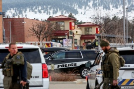 The shooting occurred at about 3pm (21:00 GMT) at a supermarket in the Table Mesa area of Boulder [Kevin Mohatt/Reuters]
