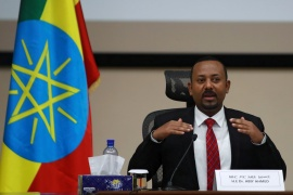 Ethiopia's Prime Minister Abiy Ahmed speaks during a question and answer session with lawmakers in Addis Ababa, Ethiopia on November 30, 2020 [File: Reuters/Tiksa Negeri]