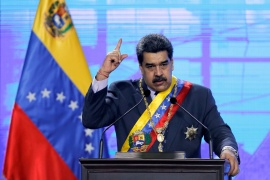 Venezuelan President Nicolas Maduro has touted an oral solution called Carvativir that he claims, without evidence, can cure the coronavirus [File: Manaure Quintero/Reuters]