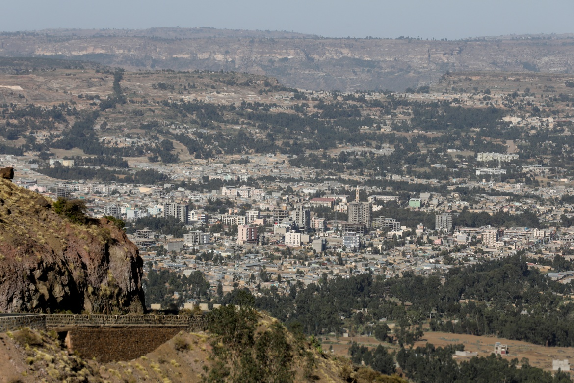 The town of Adigrat, Tigray region. Amhara officials say the disputed lands, equal to about a quarter of Tigray, were taken during the nearly 30 years  that the TPLF dominated central government before Prime Minister Abiy Ahmed came to power in 2018. [Baz Ratner/Reuters]