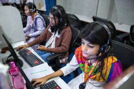 Women continue to be underrepresented in India's online platforms, according to the International Labour Organization [File: Taylor Weidman/Bloomberg]