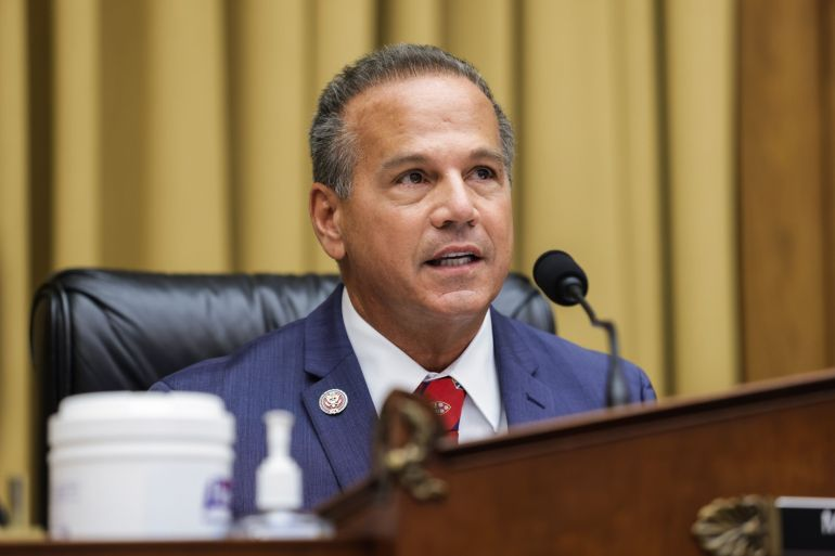 Last year, Representative David Cicilline, a Democrat from Rhode Island, released a 16-month investigation of tech companies [File: Graeme Jennings/Washington Examiner/Bloomberg]